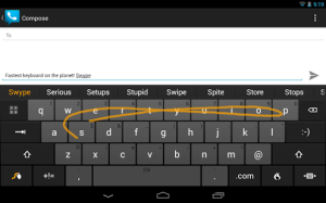これが噂の「なぞるキーボード」です <出典元:たのしいiPhone! AppBank>